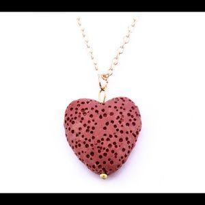 Jewelry - HeartLavaStoneNecklaceEssentialOilDiffuserNecklace